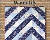 Water Lily Throw Quilt Pattern by Purple Pineapple Studio