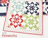 Fireworks Mini Quilt Pattern by Camille Roskelley of Thimble Blossoms