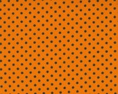 Holiday Halloween Pumpkin Dots - Holiday Essentials Halloween by Stacy Iest Hsu for Moda Fabrics