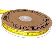 Yellow Tape Measure Twill Ribbon 25 Yard Spool by Creative Impressions
