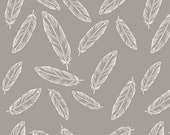 By Popular Demand Feathers in Gray by Simple Simon & Co. for Riley Blake Designs