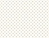 Gray Swiss Dot on Cream by Riley Blake Designs