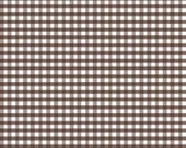 Small Gingham Check Brown by Riley Blake Designs