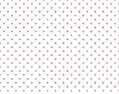 Hot Pink Swiss Dot on White by Riley Blake Designs