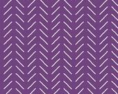 Fleur Bias Lines in Dark Purple by Sedef Imer for Riley Blake Designs