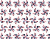 Land of Liberty Pinwheels in White by My Mind's Eye for Riley Blake Designs