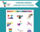Geometric Rainbow Quilt Booklet by Quite Play