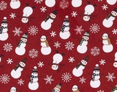 FLANNEL Let It Snow Snowmen by Echo Park Paper Co. for Riley Blake Designs