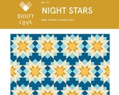 Night Stars Pattern by Quilty Love