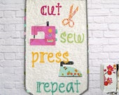 Cut Sew Press Repeat Pennant Pattern by Tied With A Ribbon