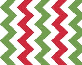 "Manufactures Cut 58"" Wide Christmas Chevron by Riley Blake"