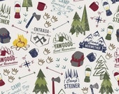 Modern Scouting Main Print in Off White by Boy Scouts of America for Riley Blake Designs