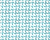 Aqua and White Houndstooth by Riley Blake Designs