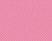 Pink and White Mini Quatrefoil by Riley Blake Designs