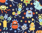 Monster Mash in Navy by Michael Miller