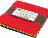 Kona Bright Rainbow Palette Charm Squares by Robert Kaufman