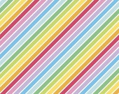 Rainbowfruit Calories Don't Count in White by Amber Kemp-Gerstel for Riley Blake Designs
