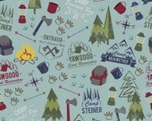Modern Scouting Main Print in Blue by Boy Scouts of America for Riley Blake Designs