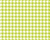 Lime Green and White Houndstooth by Riley Blake Designs