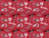 University of Utah Utes Tone on Tone Fabric