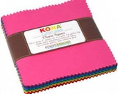 Kona New Classic Palette Charm Squares by Robert Kaufman