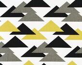 HOME DECOR Gray Black and Saffron Triangles by Premier Prints