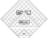 "Bloc Loc Half Square Triangle Ruler Set 3 - Set includes: 1.5"", 3.5"", and 5.5"""