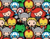 Marvel Kawaii Fabric by Camelot Fabrics
