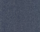 Navy Essex Yarn Dyed Homespun by Robert Kaufman