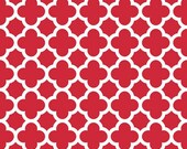 Red and White Quatrefoil by Riley Blake Designs