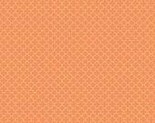Orange and White Mini Quatrefoil by Riley Blake Designs