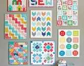 Mini Quilts Pattern by Cluck Cluck Sew