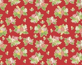 CLEARANCE: Vintage Adventure Floral Red by Beverly McCullough for Riley Blake Designs