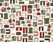 CLEARANCE: Christmas Delivery Presents in Cream by Carta Bella for Riley Blake Designs