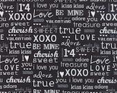 Moda First Crush Love Words in Black 5604 24