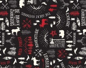 Wild At Heart Main in Black by Lori Whitlock for Riley Blake Designs