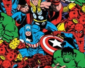 Marvel Comic Pack Fabric by Springs Creative