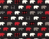 Wild At Heart Bears in Black by Lori Whitlock for Riley Blake Designs