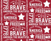 Let Freedom Soar Text in Red by Tara Reed for Riley Blake Designs