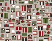 CLEARANCE: Christmas Delivery Presents in Gray by Carta Bella for Riley Blake Designs