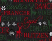 CLEARANCE: Reindeer Names by Timeless Treasures