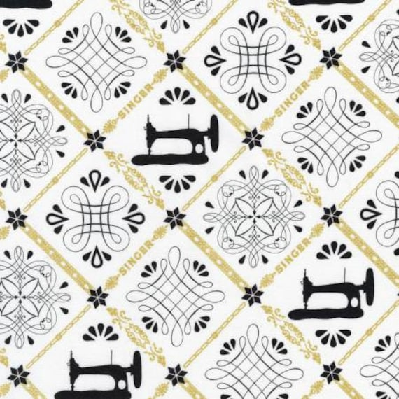 Sewing with singer Machine Ivory Robert Kaufman 100/% cotton Fabric by the yard