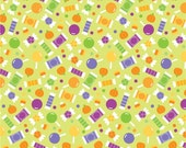 Halloween Parade Green Candy by Doodlebug Designs for Riley Blake Designs