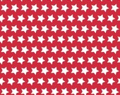 CLEARANCE: Red and White Star Basics by Riley Blake Designs