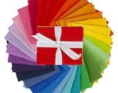 30 pc Rainbow Hush Hush Fat Eighth Bundle by Riley Blake Designs