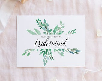 Bridesmaid Thank You Etsy