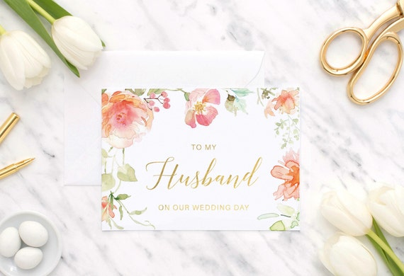 Gift For My Husband On Our Wedding Day: To My Husband On Our Wedding Day To My Husband To My Groom