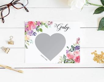 Will you be my bridesmaid card, bridesmaid proposal card, be my maid of honor, bridesmaid card, be my bridesmaid, bridesmaid scratch off