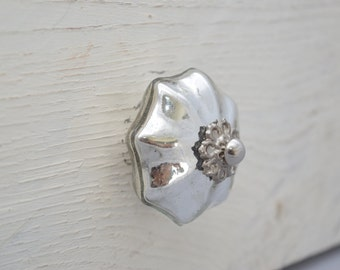 Silver Mercury Glass Drawer Knobs, Drawer Pull, Cabinet Pull, Cabinet Knobs