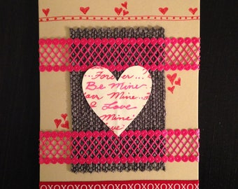 """Valentine's Day Card for Sweetheart - Love Card - """"Be Mine Love"""" (c) 2018 -  by HMHB"""
